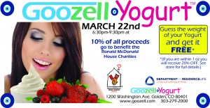 Goozell Yogurt and Ronald McDonald House