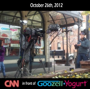 CNN in Golden, CO at Goozell Yogurt